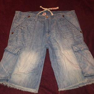 True Religion shorts light wash jean